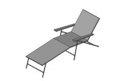 3D sun lounger chair dwg file