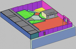 3D view cub house detail dwg file