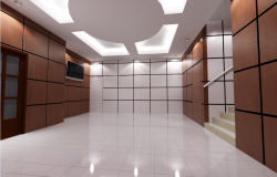 3D view design of office dwg file