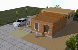 3D view manufactured house