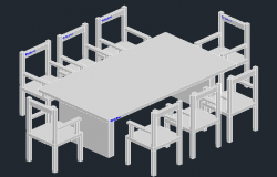 3D view of Dining table set (3)