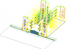 3D view of a commercial building