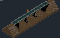 3D view of a road bridge