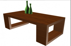 3D view of a table