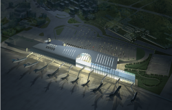 3D view of an airport