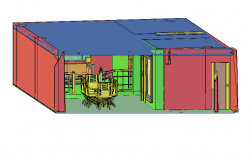 3D view of apartment dwg file