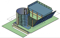 3d Building design drawing