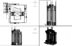 3d Commercial Building dwg file