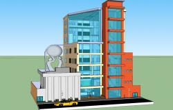 3d Corporate Office Building design