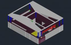 3d House Model Free DWG File