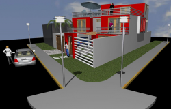 3d House design dwg file.