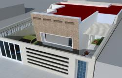 3d Modern House project max file