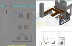 3d Office design dwg file