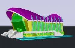 3d Sports Stadium Model DWG File