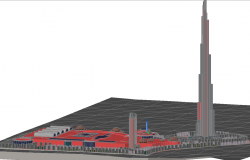 3d Tallest Building dwg file
