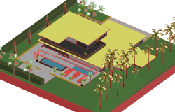 3d Villa project dwg file
