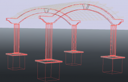 3d Wooden pergola detail and design in autocad dwg files