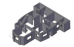 3d Working House AutoCAD File