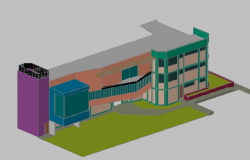 3d building view dwg file
