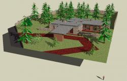 3d bungalow design in SketchUp file
