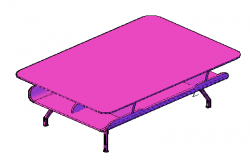 3d design drawing of table