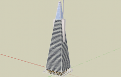 3d design of Trans-america pyramid architecture project dwg file
