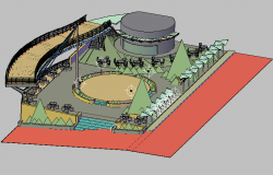 3d design of amusement adventure park project details dwg file