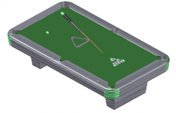 3d design of billiard pool table dwg file