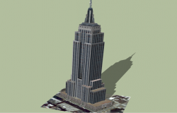 3d design of corporate building tower dwg file