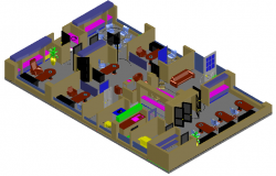 3d design of corporate office dwg file