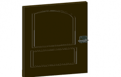 3d design of door details dwg file