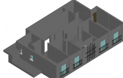3d design of house dwg file