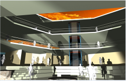 3d design of interior center design of shopping mall dwg file