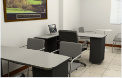 3d design of interior of corporate office dwg file