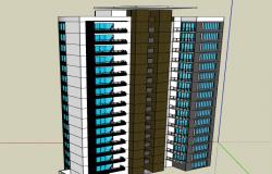 3d design of multi-family housing building dwg file