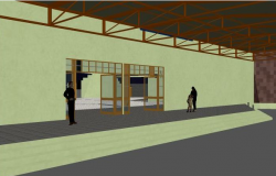 3d design of multiplex theater entrance dwg file
