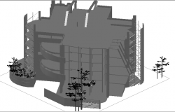 3d design of office building dwg file