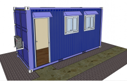 3d design of office container dwg file