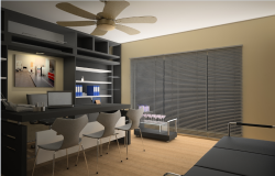 3d design of office interior details dwg file