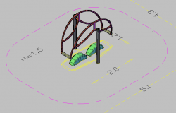 3d design of park children equipment dwg file
