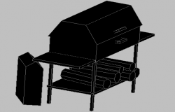 3d design of portable roast oven dwg file