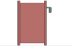 3d design of single house door details dwg file
