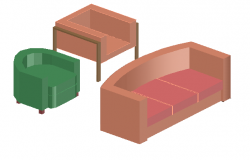 3d design of sofa and chairs cad block dwg file