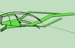 3d design of space for walk of garden dwg file