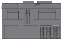 3d design of store house elevation dwg file