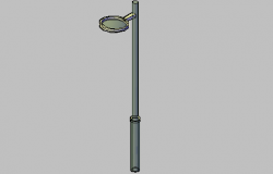 3d design of street light pole fixture details dwg file