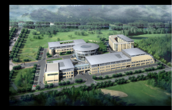 3d design of top view education university dwg file