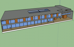 3d design of urban school architecture project dwg file