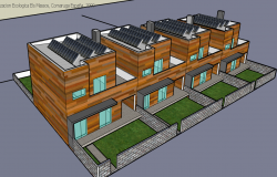 3d design of urbanized two-flooring school project dwg file