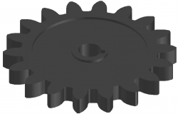 3d design view of gear dwg file